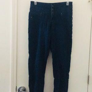 Dark denim high waisted skinny jeans